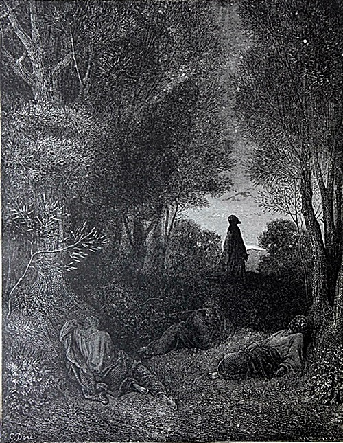 The Dore Bible Gallery Pg 84 Prayer Of Jesus In The Garden Of Olives