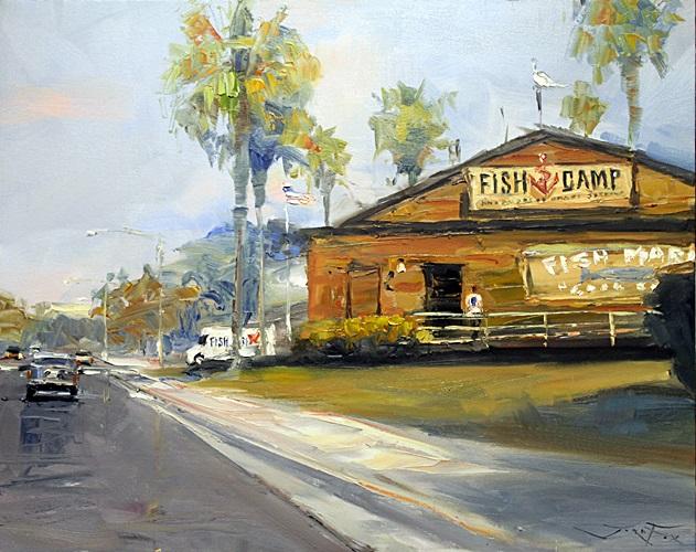 Fish Camp - Original Painting by Jorn Fox