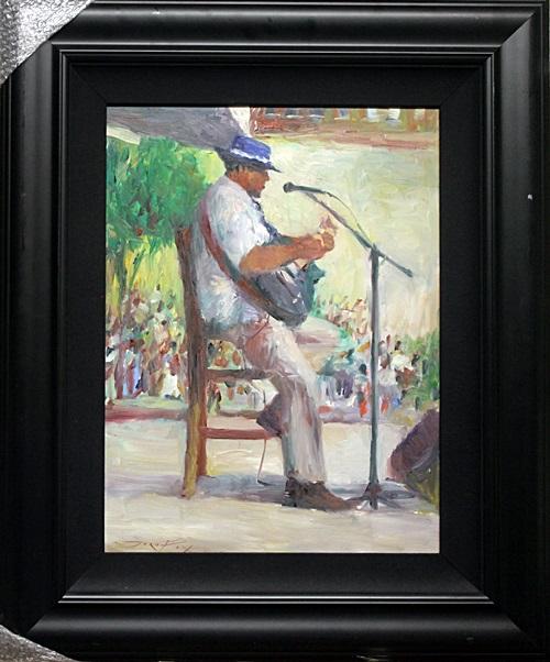 The Musician - Original Painting by Jorn Fox