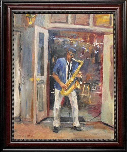The Blues Bar - Original Painting by Jorn Fox