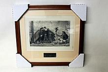 Henry Wallis - Found at Nayos - Original Woodblock