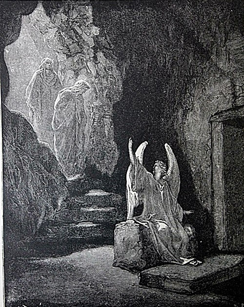 The Dore Bible Gallery Pg 91 The Angel At The Sepulchre