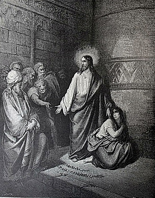 The Dore Bible Gallery Pg 79 Jesus And The Woman Taken In