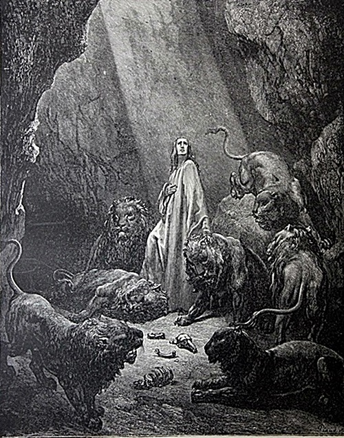 The Dore Bible Gallery Pg 52 Daniel In The Lions
