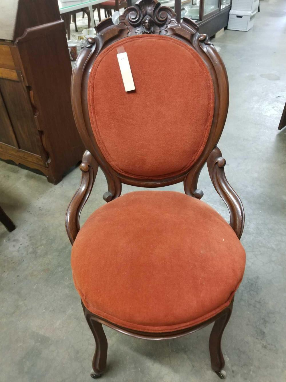 FRENCH REGENCY STYLE VICTORIAN LADIES PARLOR CHAIR