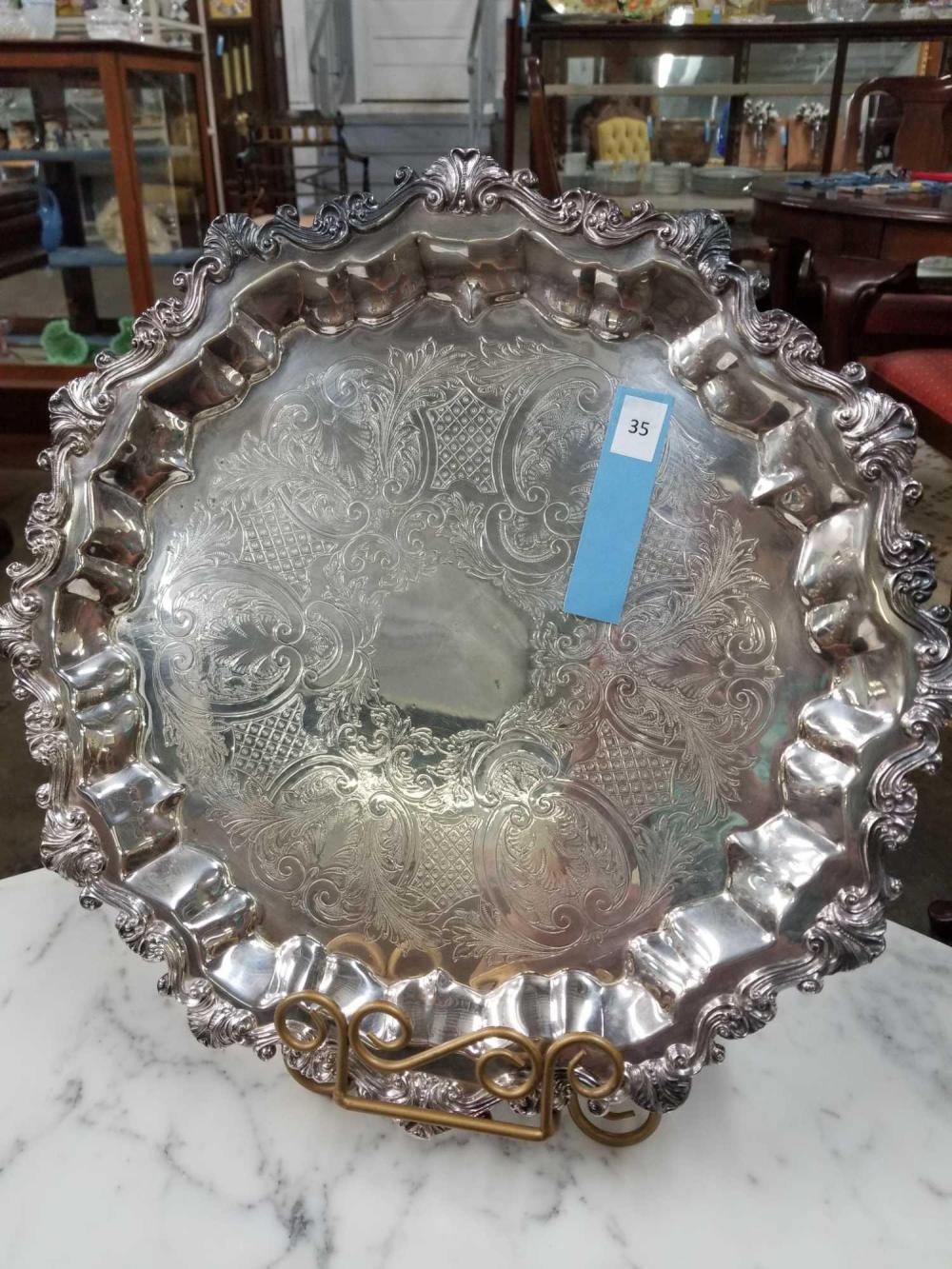 SHERIDAN SILVER OVER COPPER SERVING TRAY