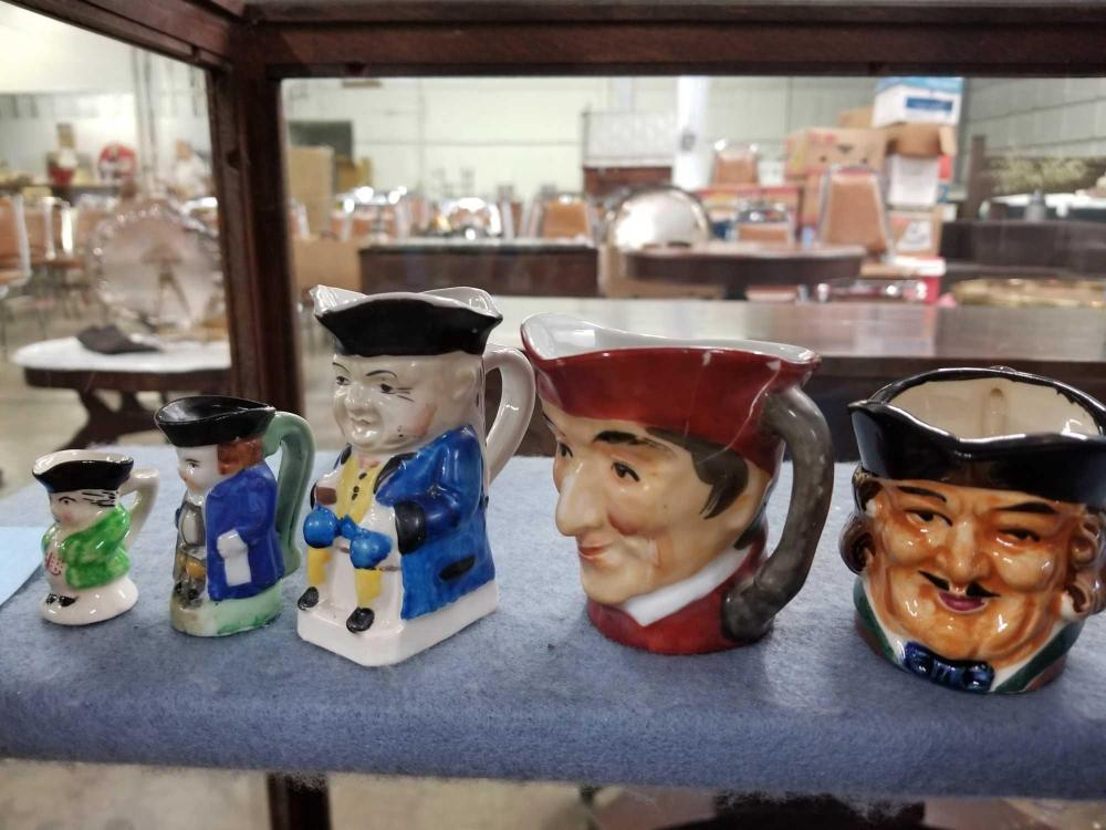 OCCUPIED JAPAN & JAPAN MADE TOBY MUGS - 5 ITEMS