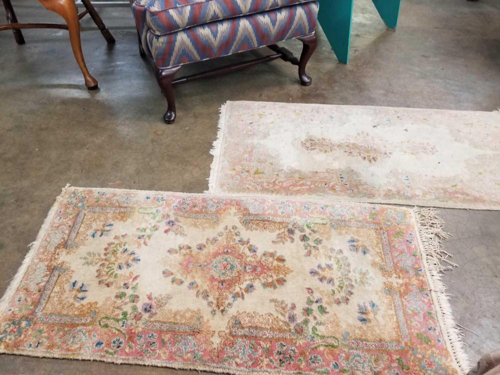 VINTAGE SMALL AREA RUGS - 2 ITEMS