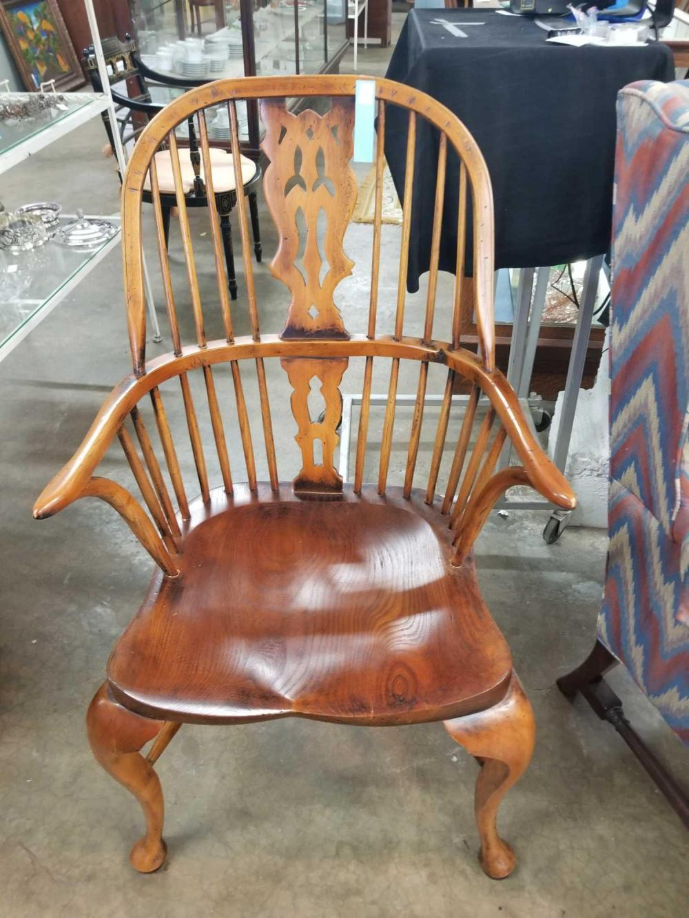 QUEEN ANNE BENTWOOD SPINDLE BACK CHAIR