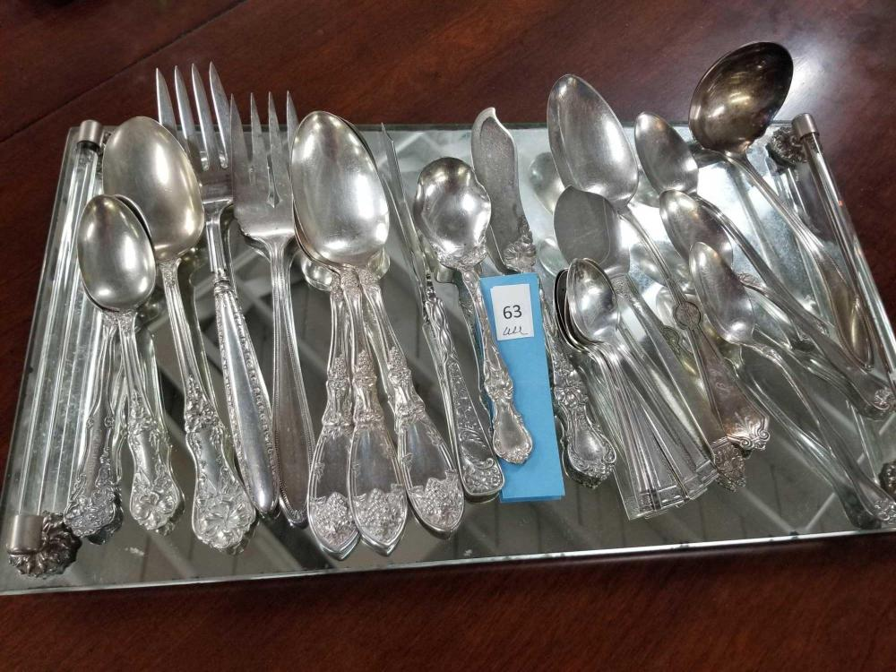 SILVER PLATED FLATWARE SERVING PIECES - 23 PCS.