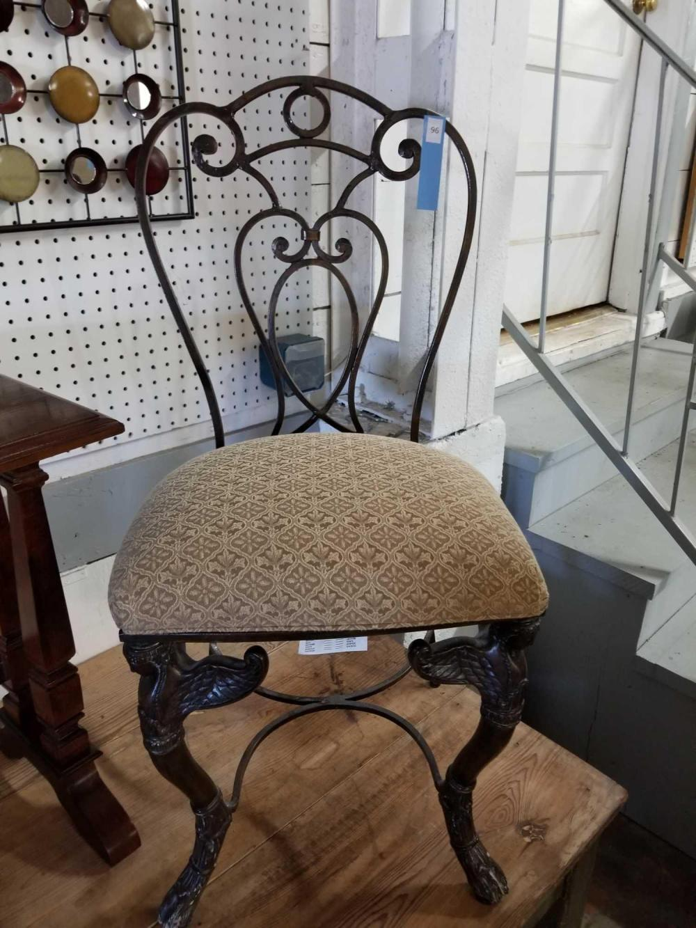 PULASKI FURNITURE CO. FRENCH WROUGHT IRON LADIES PARLOR CHAIR