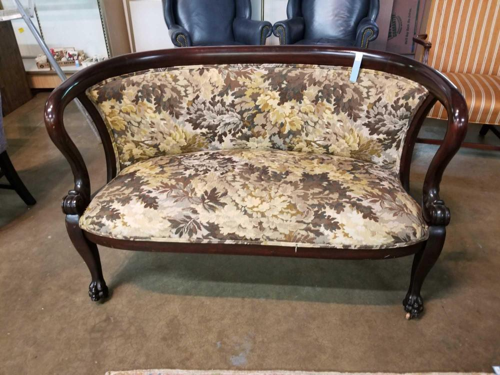 EMPIRE STYLE LATE 1800'S ORIGINAL CURVED BACK LOVE SEAT