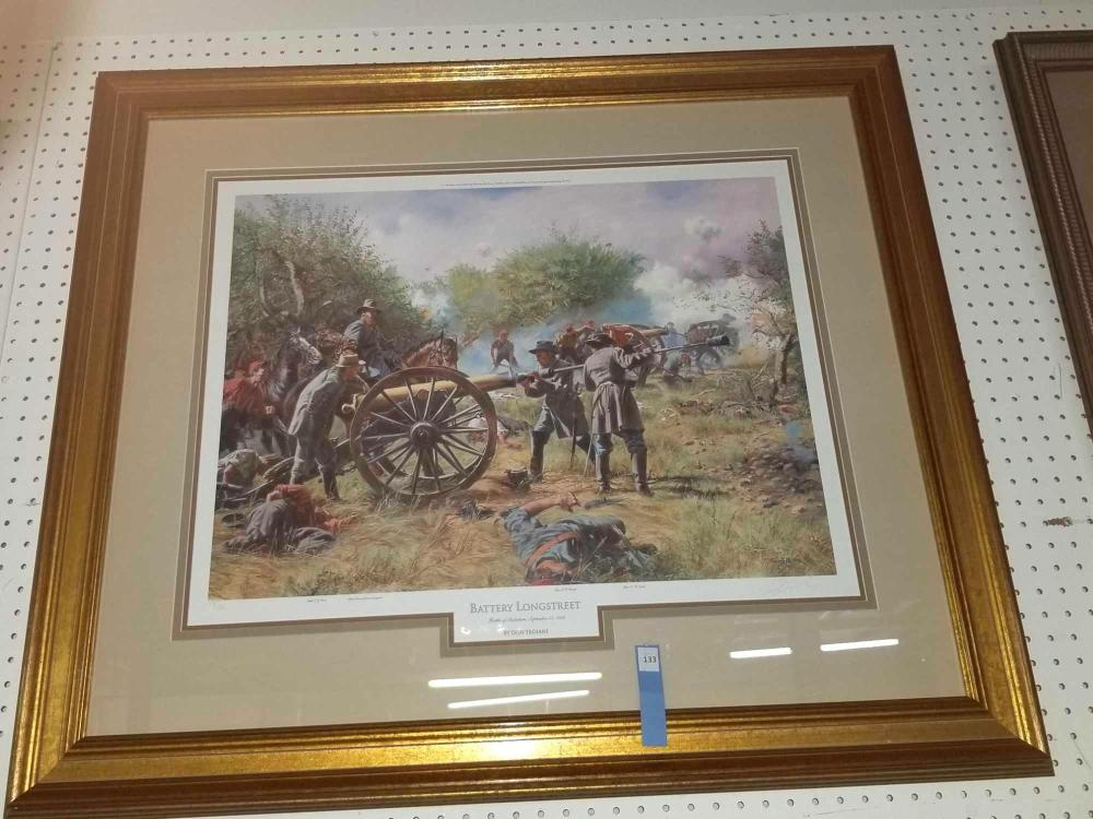 """BATTERY LONGSTREET"" LIMITED EDITION PRINT BY DON TROIANI"