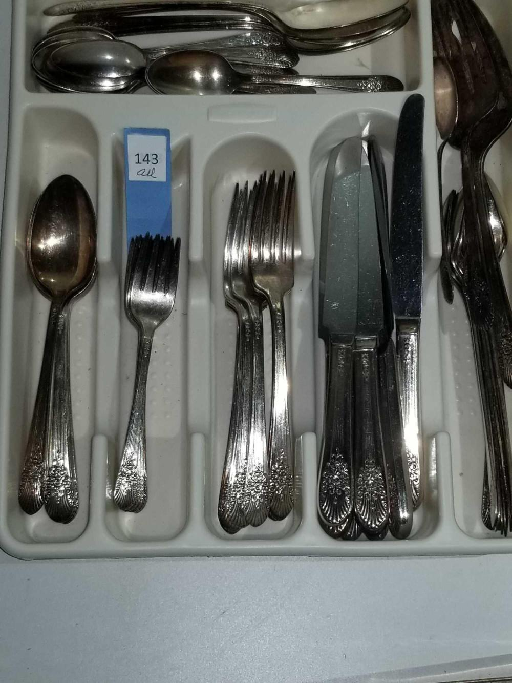WM. ROGERS CO. SILVER PLATED FLATWARE - 67 PCS.