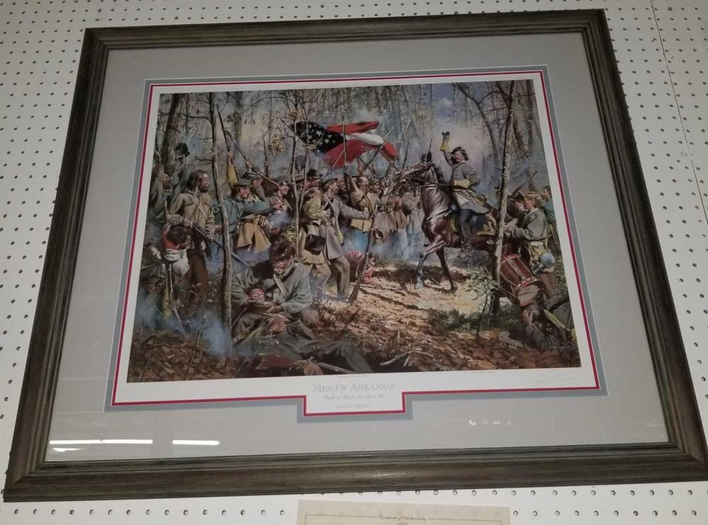 """MEN OF ARKANSAS"" SIGNED & NUMBERED LIMITED EDITION PRINT BY DON TROIANI"