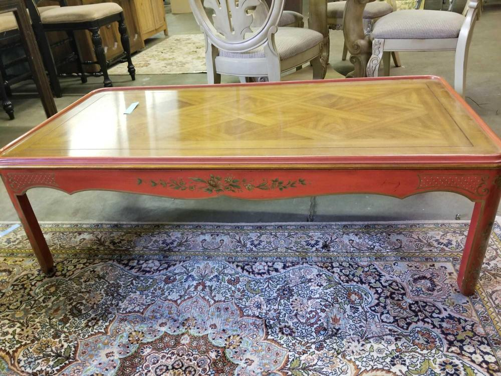 KINDEL FURNITURE CO. ORIENTAL INFLUENCED COFFEE TABLE