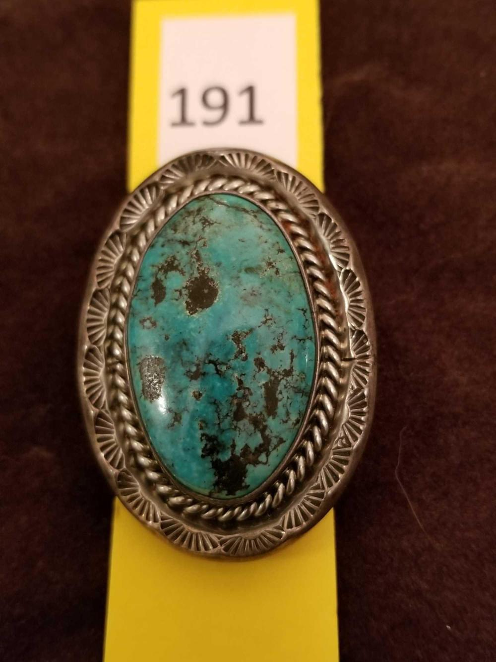 Turquoise Ornamental Clasp/Slide marked Wilson Padilla