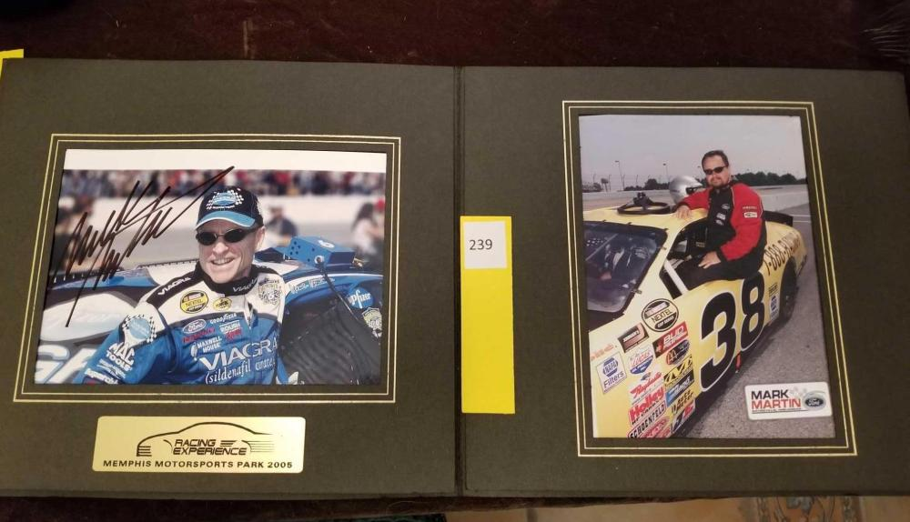 Racing Experience Memphis Motorsports 2005 Autographed Mark Martin Pictures in Folio - 57 in each - 2 items