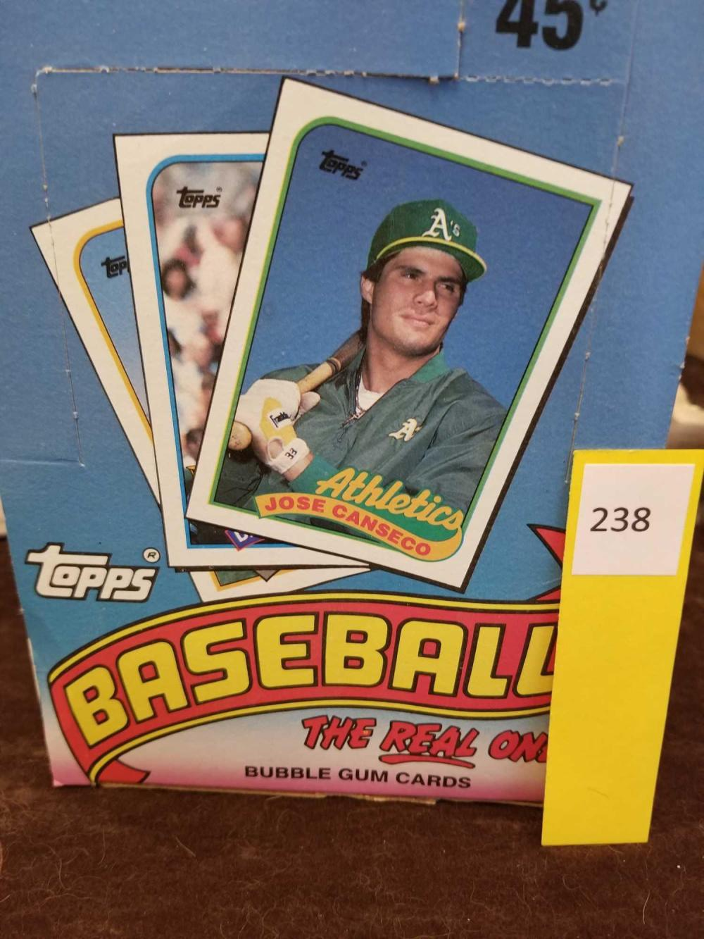 1989 Tops 36 Count Wax Pack Sealed Packs