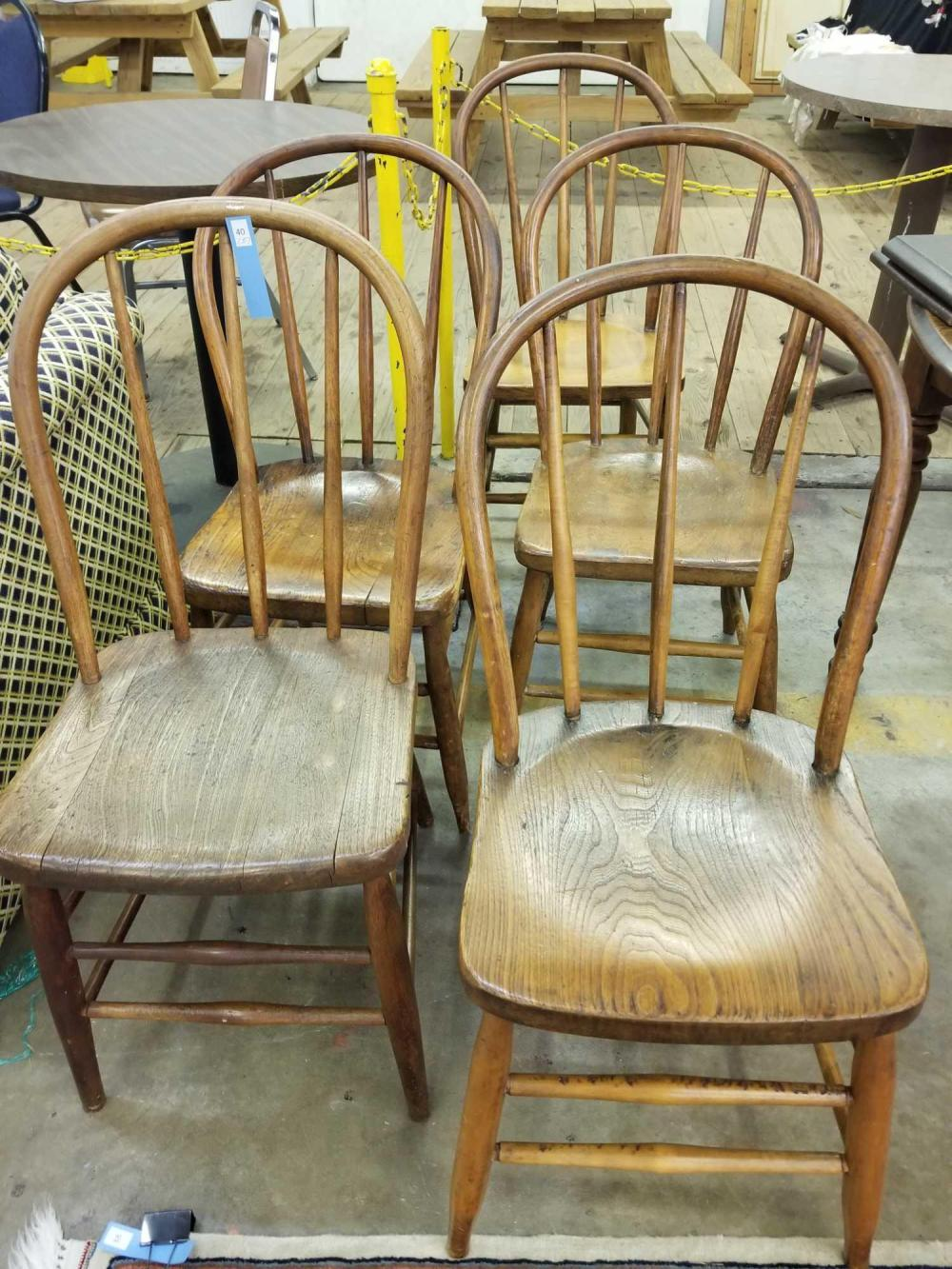 ANTIQUE BENTWOOD KITCHEN CHAIRS - SET OF 5