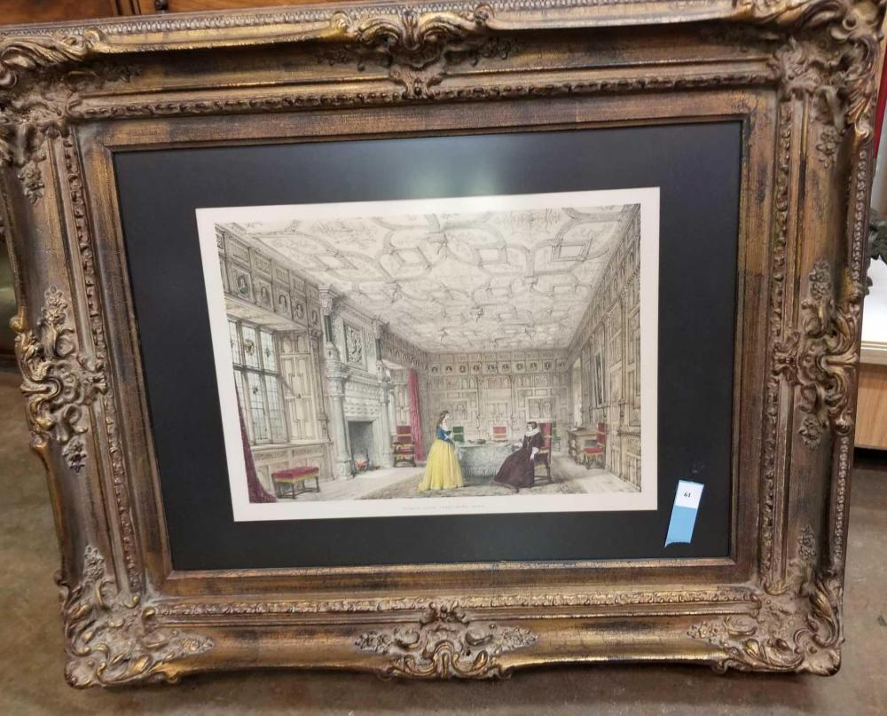 """VICTORIAN DRAWING ROOM"" MATTED & FRAMED PRINT"