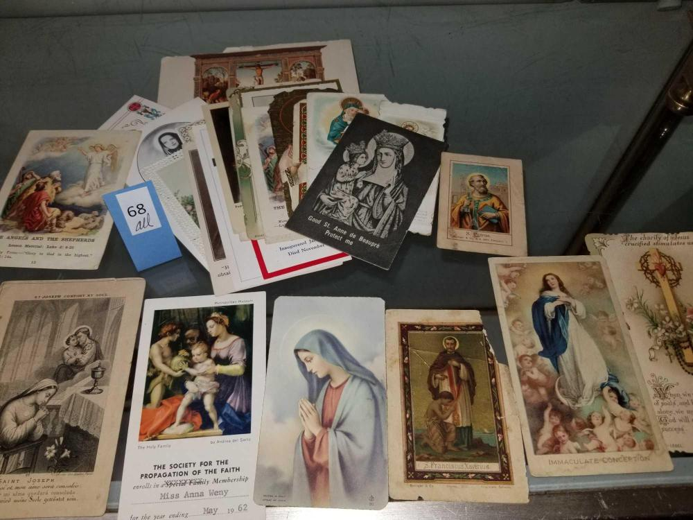 ASSORTED VINTAGE HOLY CARDS & MEMORIAL CARDS - 29 TOTAL