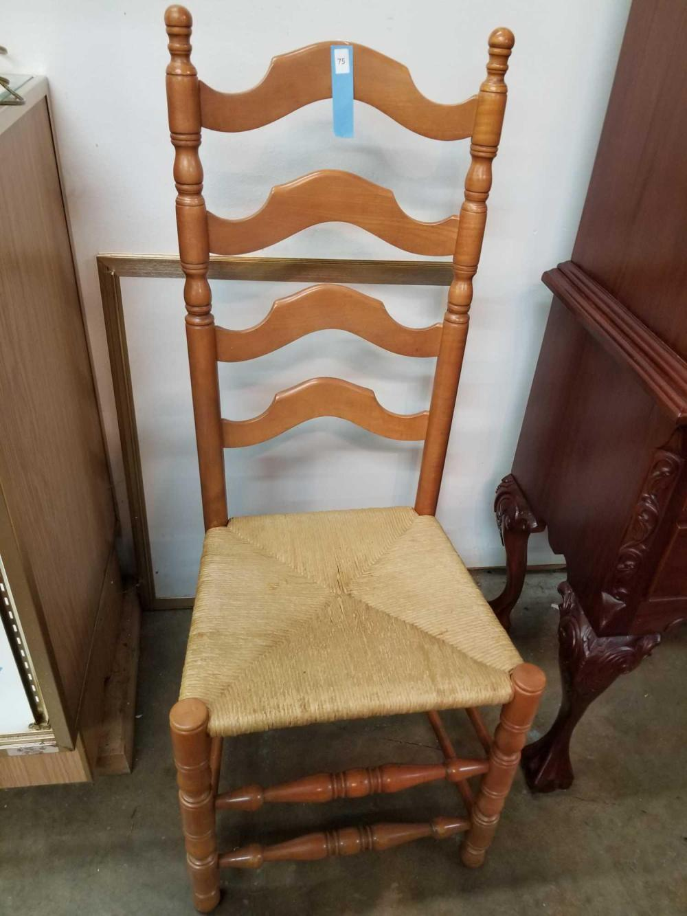 SHAKER STYLE MAPLE LADDER BACK CHAIR