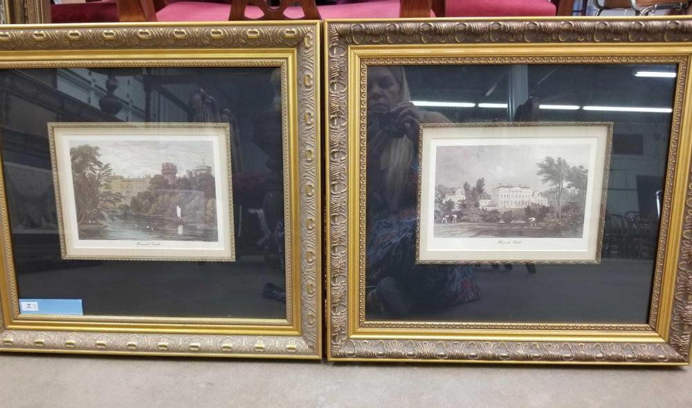 MATTED & FRAMED DECORATOR PRINTS - PAIR