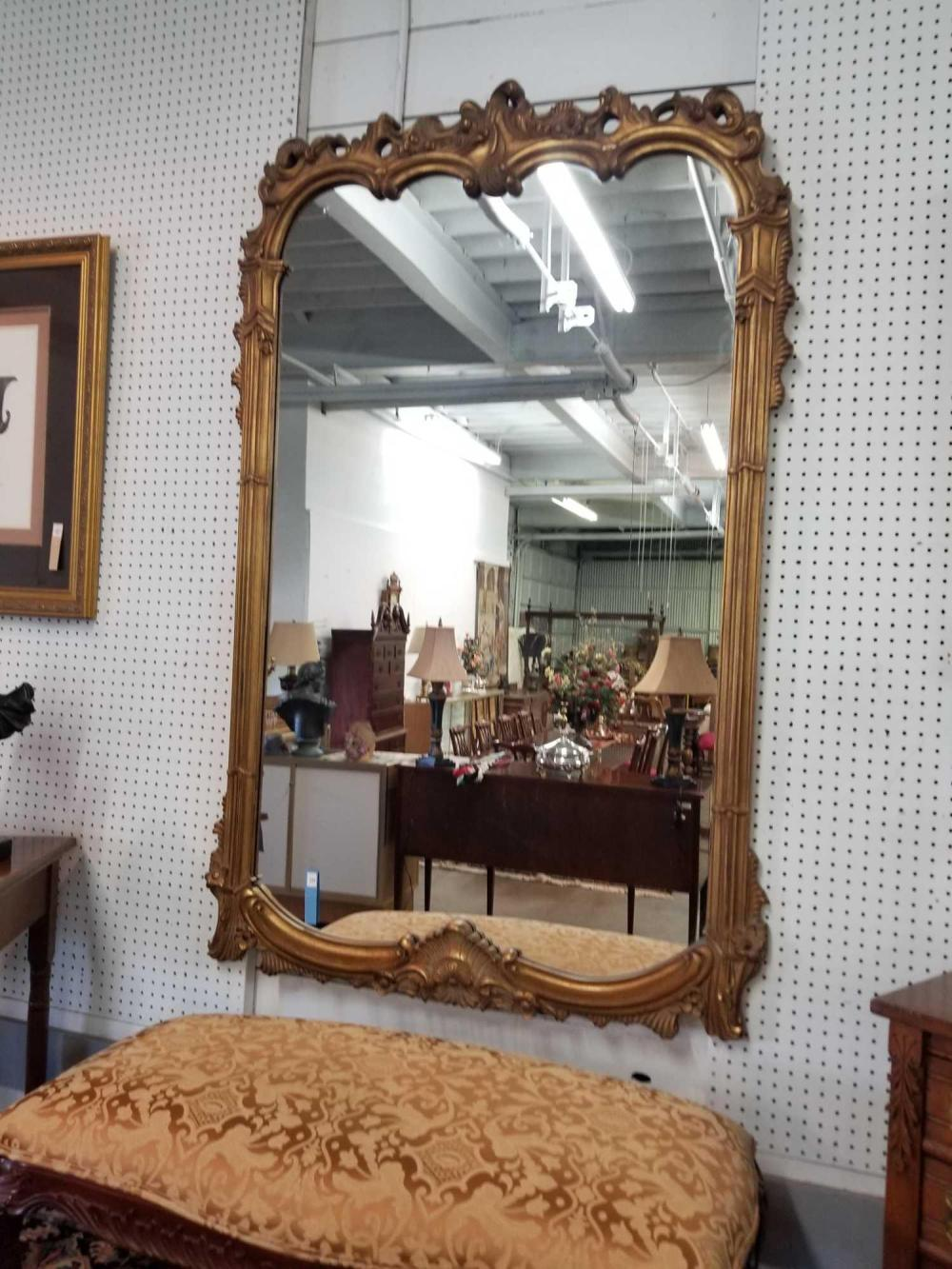 FRENCH DECORATOR LARGE WALL MIRROR