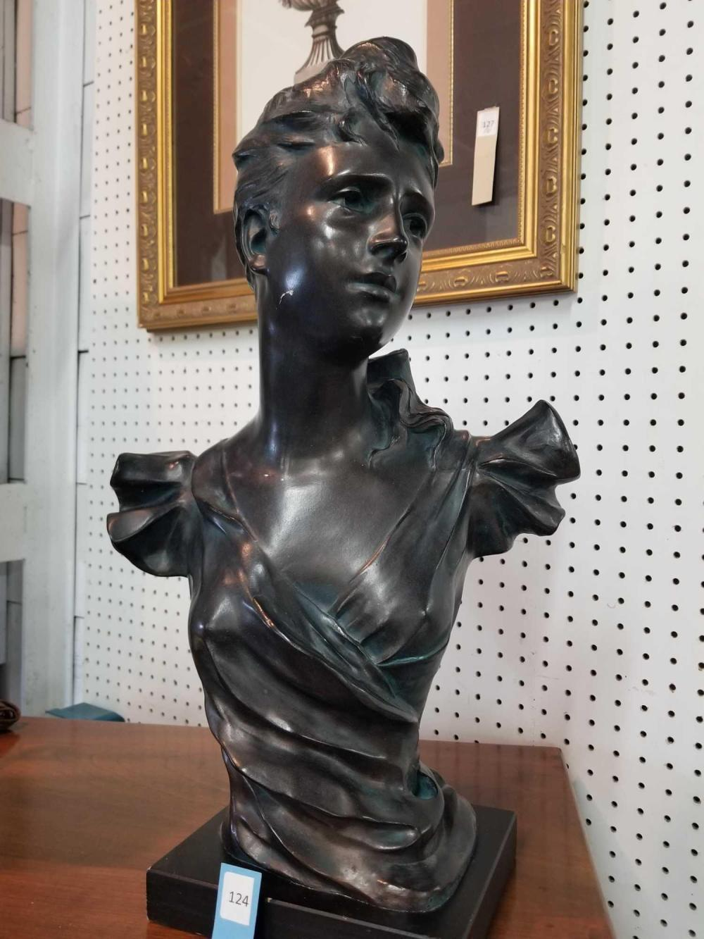 YOUNG GIRL BUST SCULPTURE BY AUSTIN