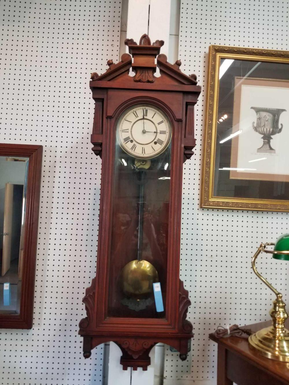 "ANSONIA ""PROMPT"" LONG CASE WALL CLOCK"