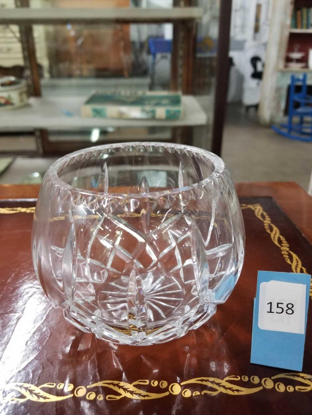 WATERFORD LISMORE STYLE PATTERNED ROSE BOWL