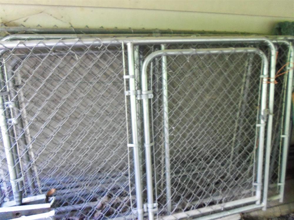 7 Panel 4' tall Framed Chain Link Dog Pen