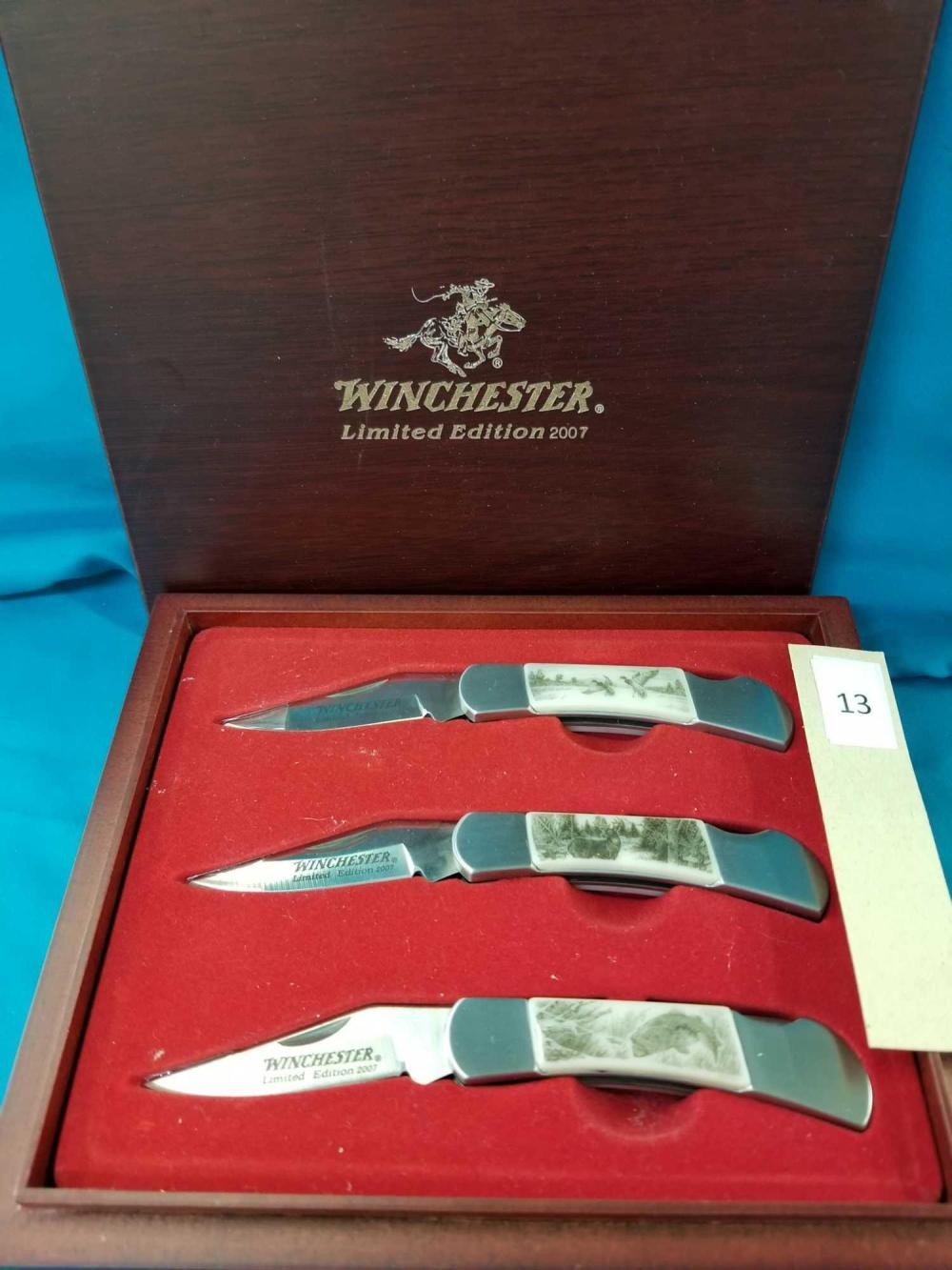 WINCHESTER 2007 3 FOLDING KNIFE LIMITED EDITION SET
