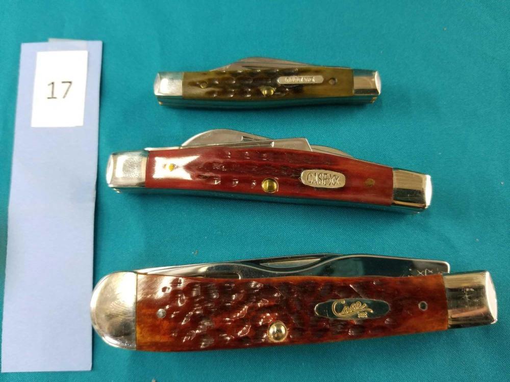 CASE XX FOLDING KNIVES - 3 ITEMS