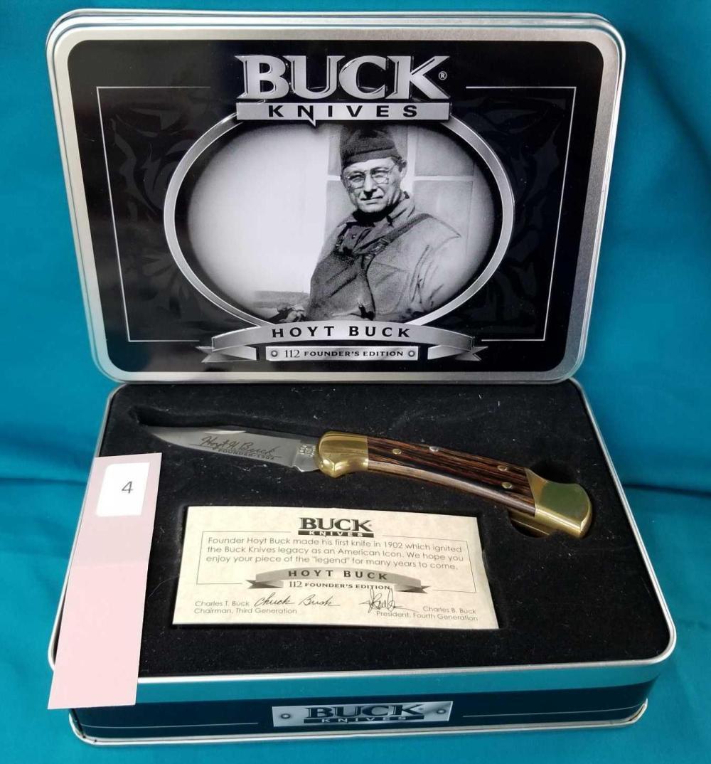 HOYT BUCK #112 BUCK KNIFE FOUNDERS EDITION