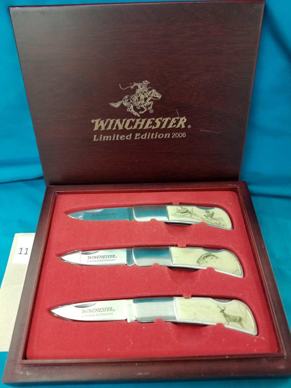 WINCHESTER 2006 3 FOLDING KNIFE LIMITED EDITION SET