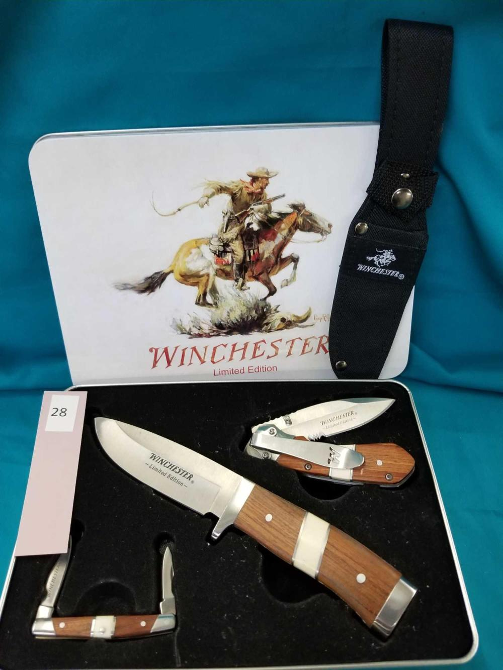 WINCHESTER LIMITED EDITION 3 KNIFE SET IN COLLECTOR TIN