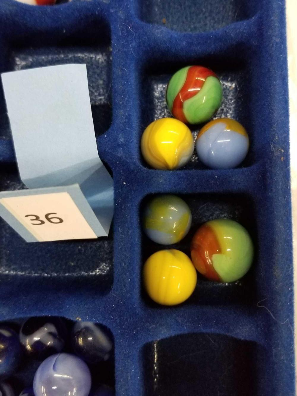 """MASTER GLASS MULTI-COLORED """"COMET"""" MARBLES - 6 ITEMS"""