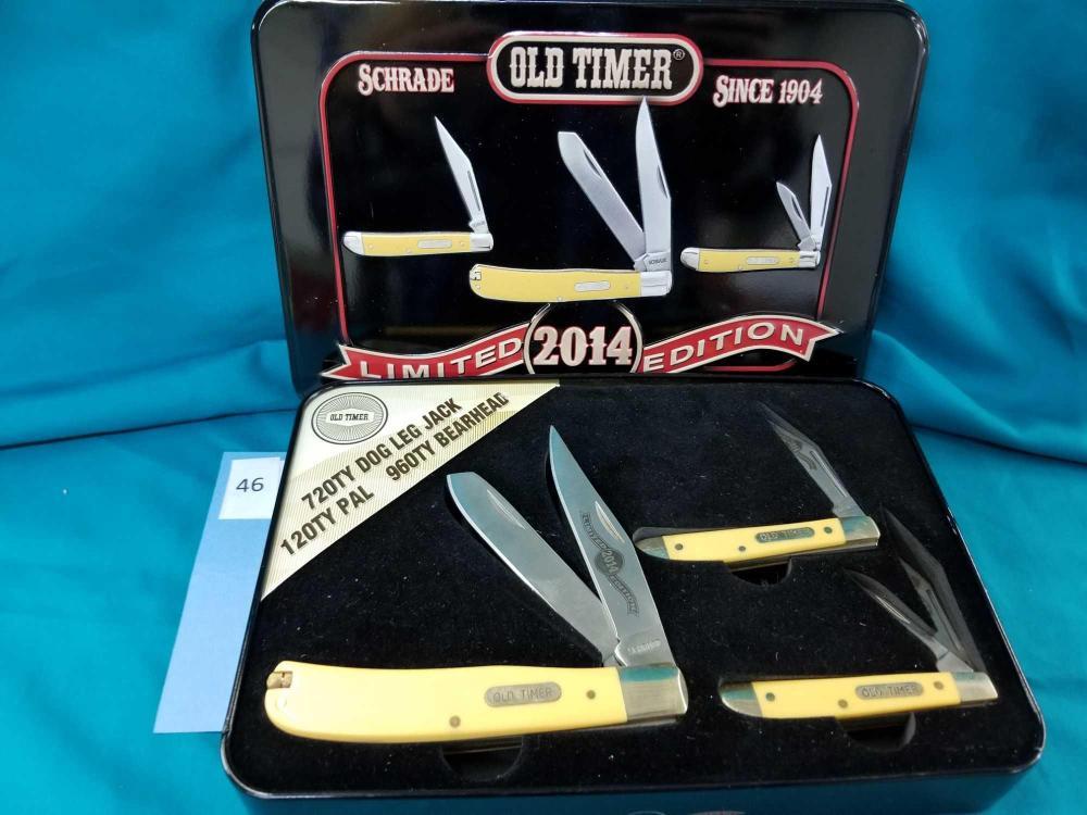 """SCHRADE """"OLD TIMER"""" 2014 LIMITED EDITION KNIFE SET"""