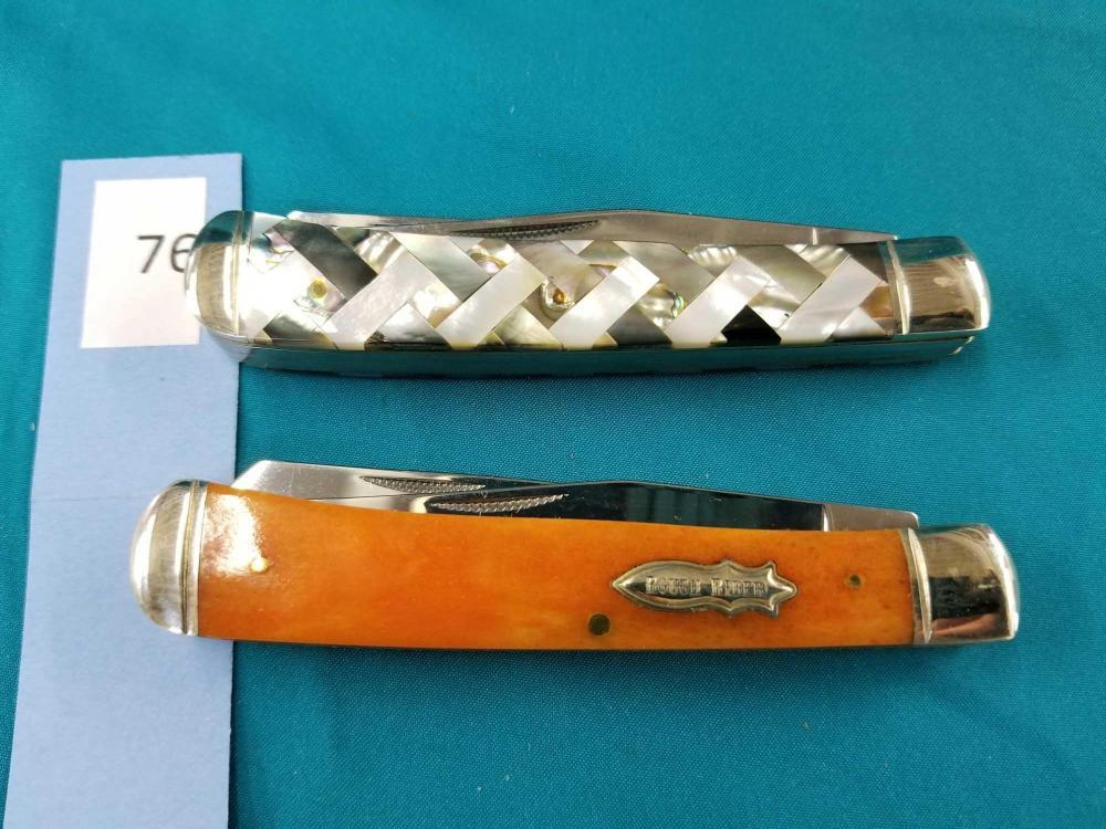 ROUGH RIDER 2 BLADE FOLDING POCKET KNIVES - 2 ITEMS
