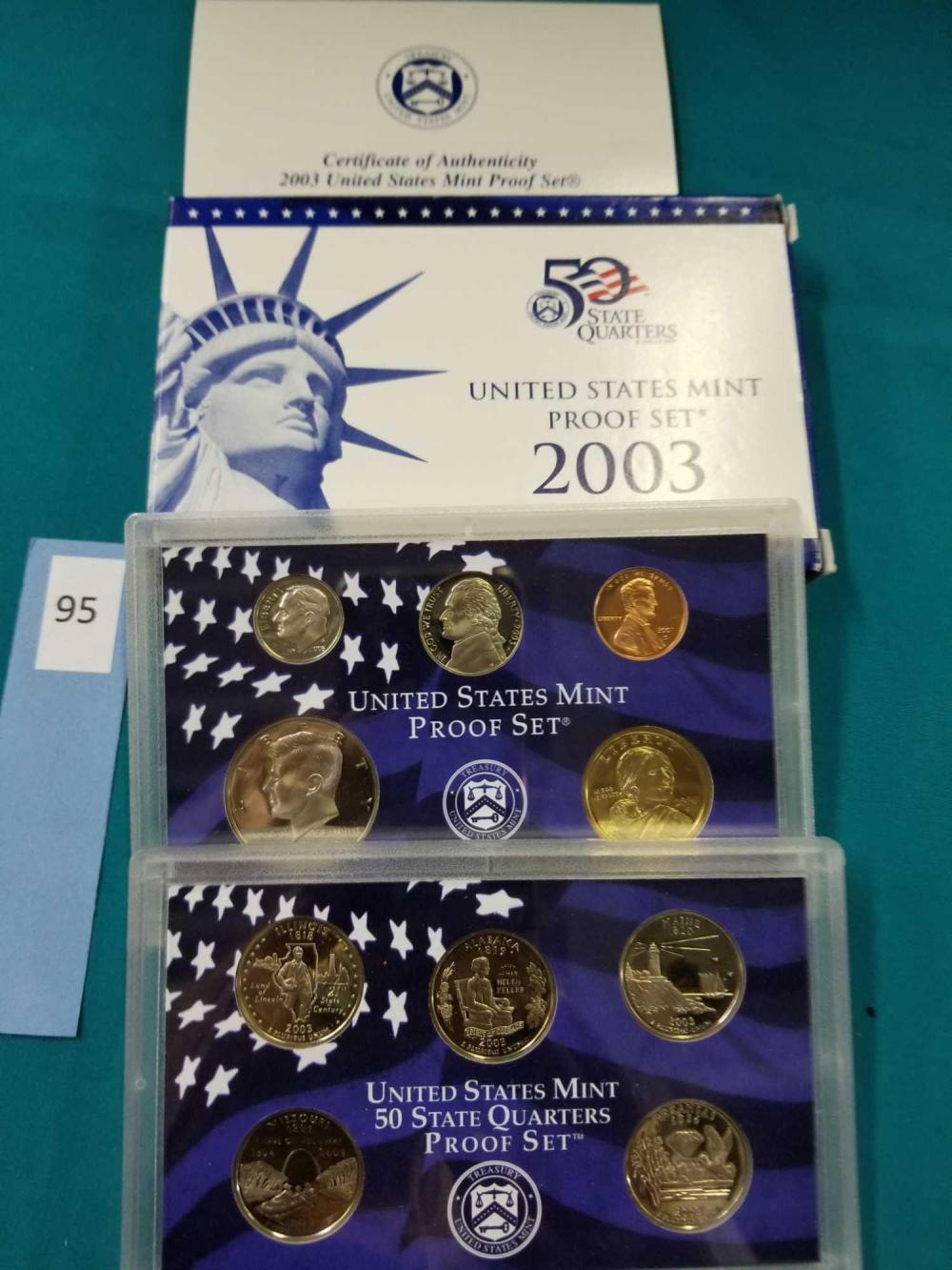 2003 U.S. MINT PROOF COIN SET