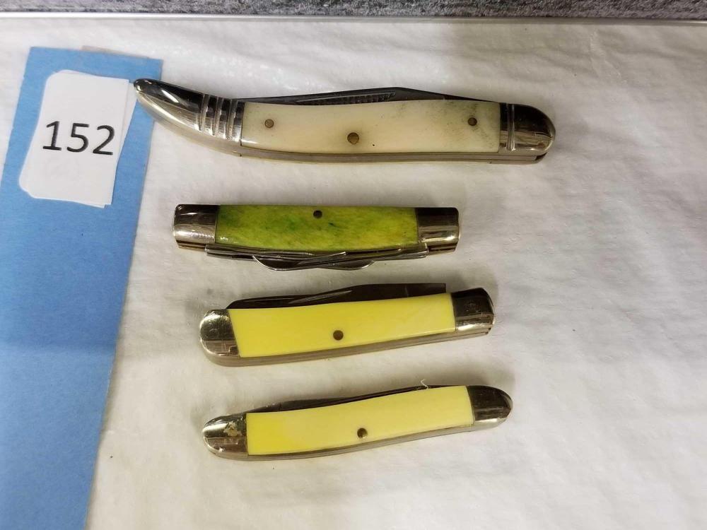 ROUGH RIDER MINIATURE & TOOTHPICK FOLDING POCKET KNIVES - 4 ITEMS