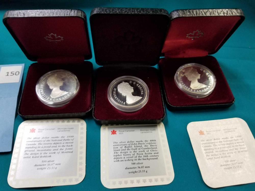 ROYAL CANADIAN MINT  .500 SILVER COINS - 3 ITEMS