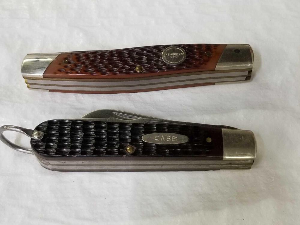 REMINGTON UMC 4 BLADE & 2 BLADE CASE XX POCKET KNIFE - 2 ITEMS