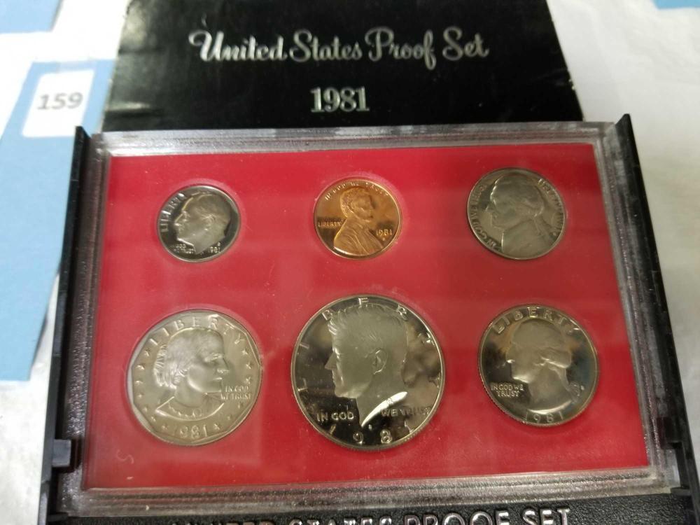 1981 U.S. PROOF 6 COIN SET