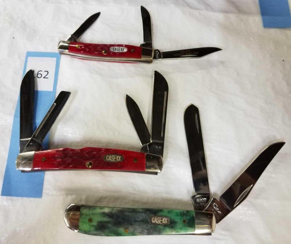 CASE FOLDING KNIVES - 3 ITEMS