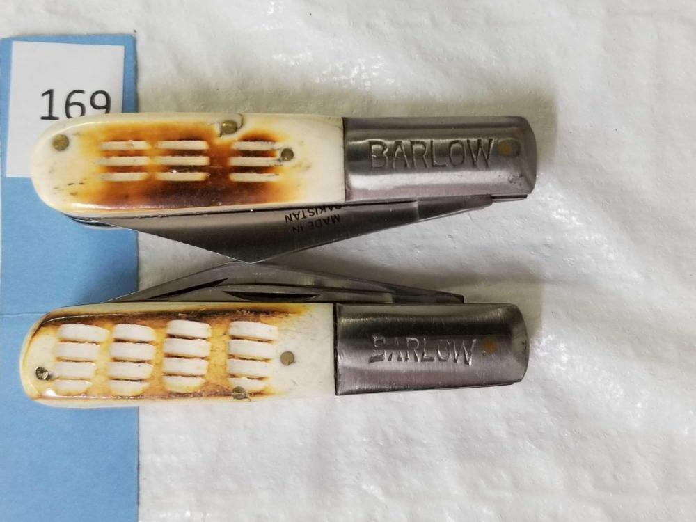 BARLOW 2 BLADE POCKET KNIVES - 2 ITEMS