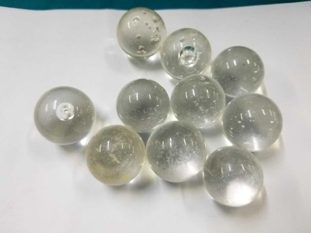 """""""CLEARIE"""" VINTAGE MARBLES - 10 ITEMS"""