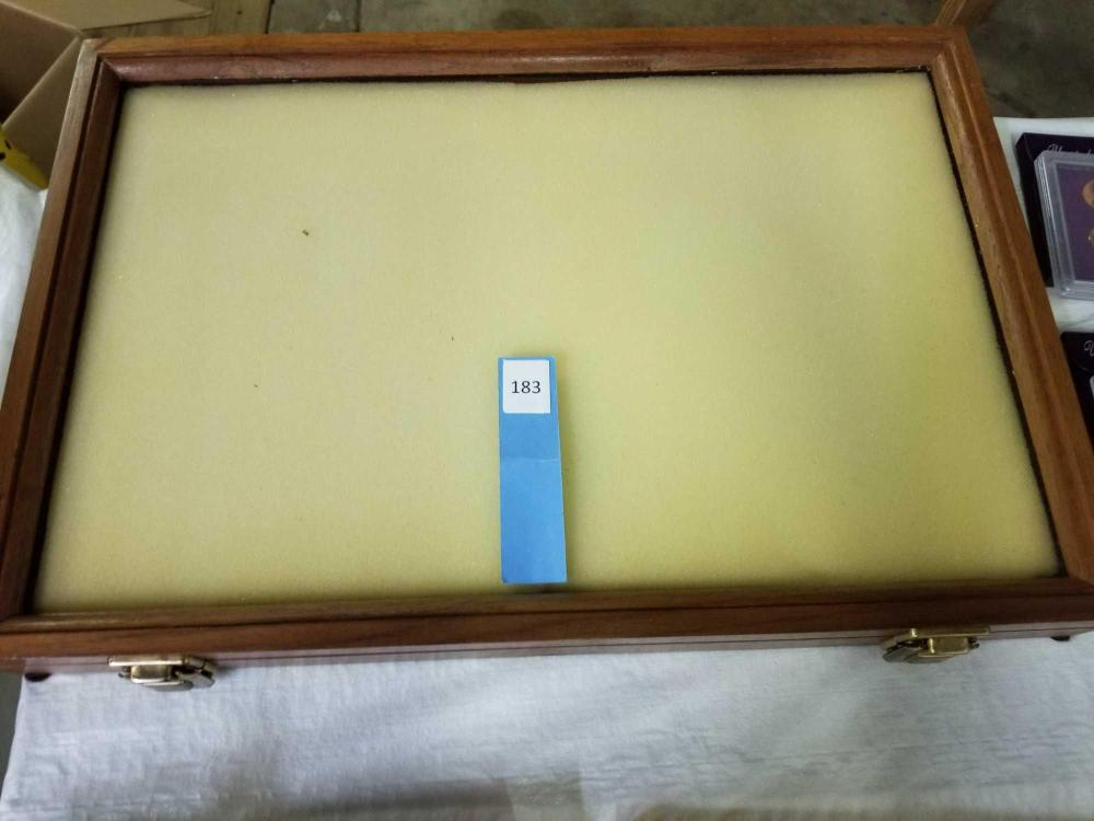 TABLE TOP WOODEN DISPLAY CASE